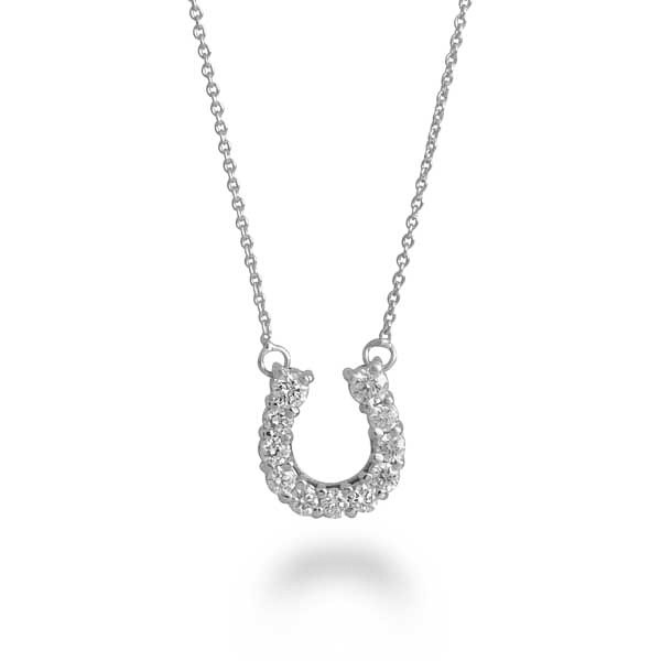 Roberto Coin White Gold Diamond Horseshoe Pendant
