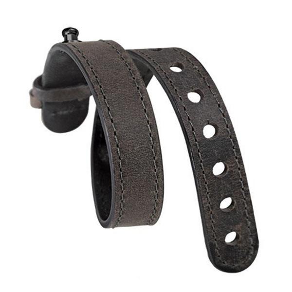 Philip Stein Grey Calf Leather Horizon Bracelet XL Strap For Black Plated Icon