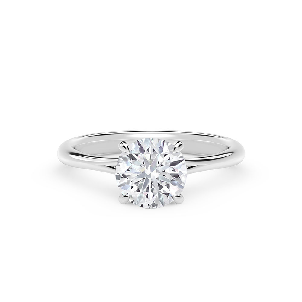 Forevermark Icon One Carat Round Diamond Solitaire Engagement Ring