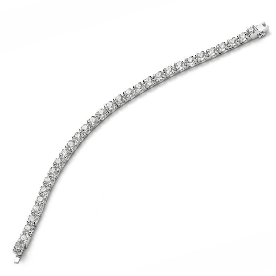 Roberto Coin 2.50ct Cento C Profile Line Bracelet Angle View
