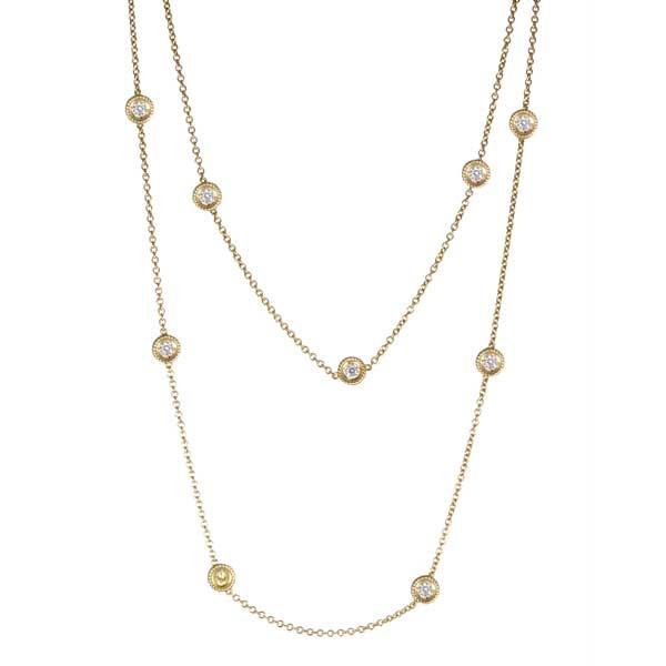 Roberto Coin Cento Yellow Sapphire & Diamond Necklace