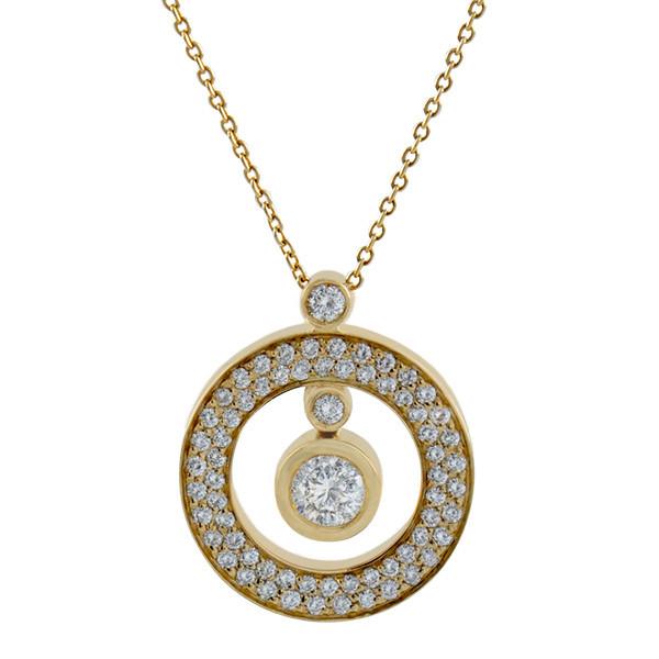 Roberto Coin Cento Pave Diamond Small O Pendant