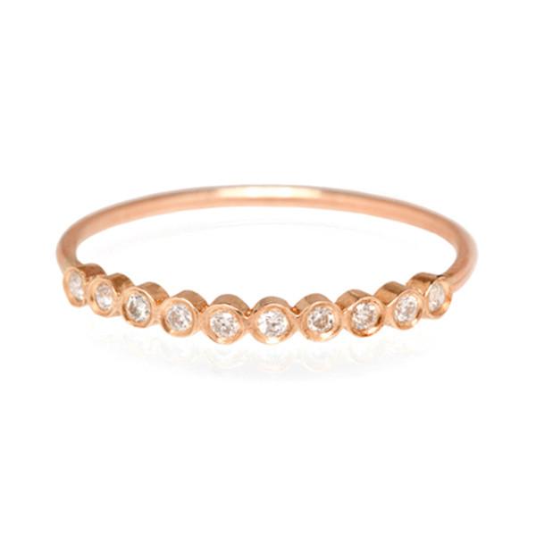 Zoe Chicco Rose Gold Bezel Diamond Ring