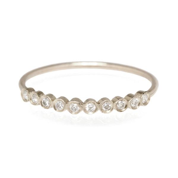 Zoe Chicco White Gold Bezel Diamond Ring