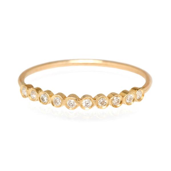 Zoe Chicco Yellow Gold Bezel Diamond Ring