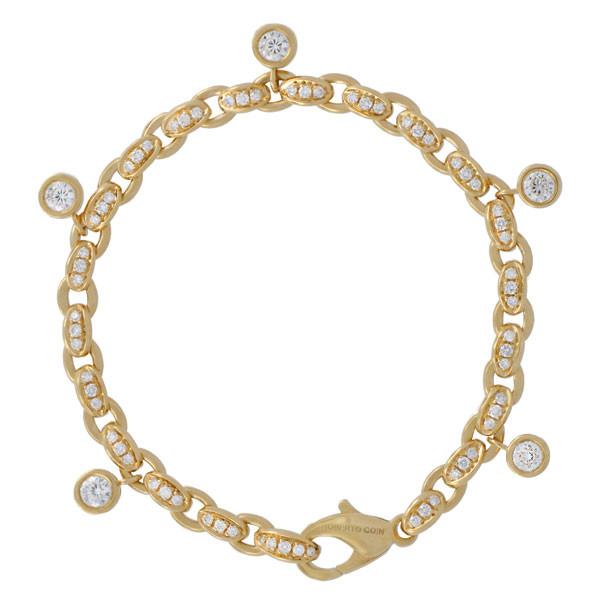 Roberto Coin Cento Yellow Gold Amuleto Link Bracelet