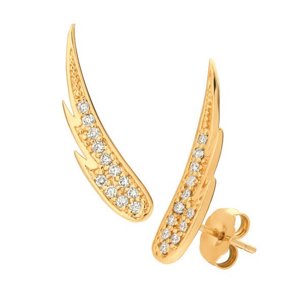 Yellow Gold Diamond Ear Climbers