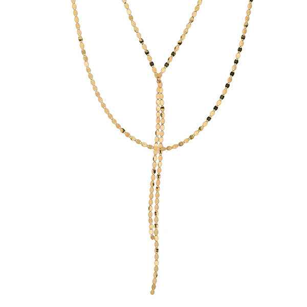 Lana Bond Blake Nude Petite Yellow Gold Necklace