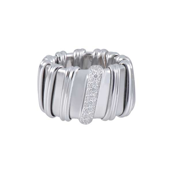 Roberto Coin Nabucco White Gold Ring