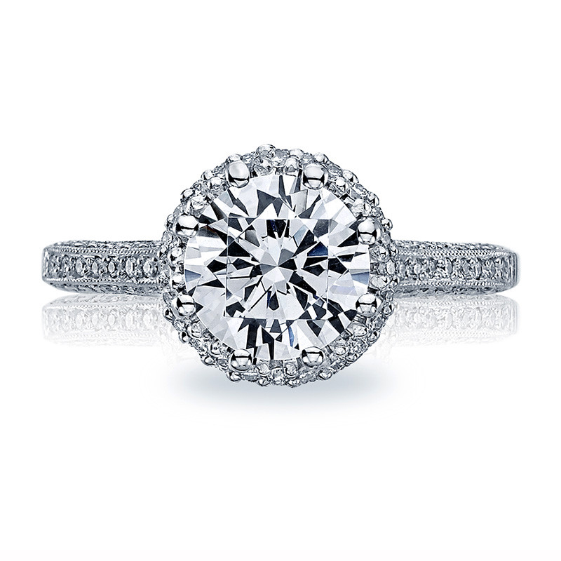 Tacori 2502-RDP7-5 Simply Tacori Bloom Platinum Engagement Setting