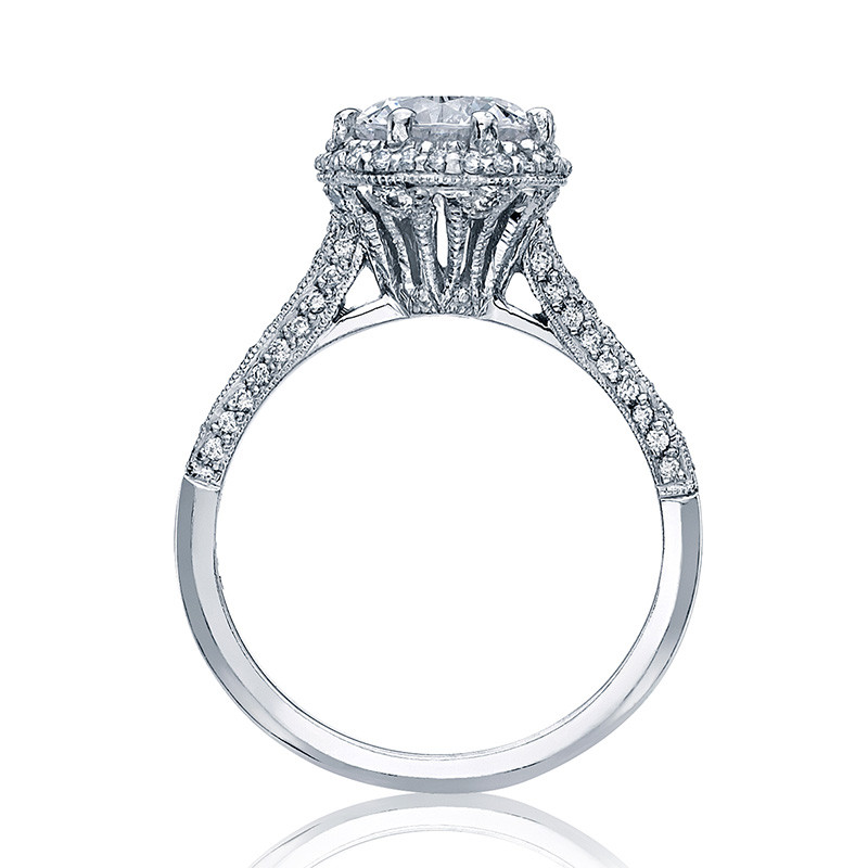 Tacori 2502-RDP7-5 Simply Tacori Bloom Platinum Engagement Setting Side View