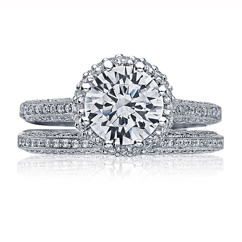 Tacori 2502-RDP7-5 Simply Tacori Bloom Platinum Engagement Setting with Band