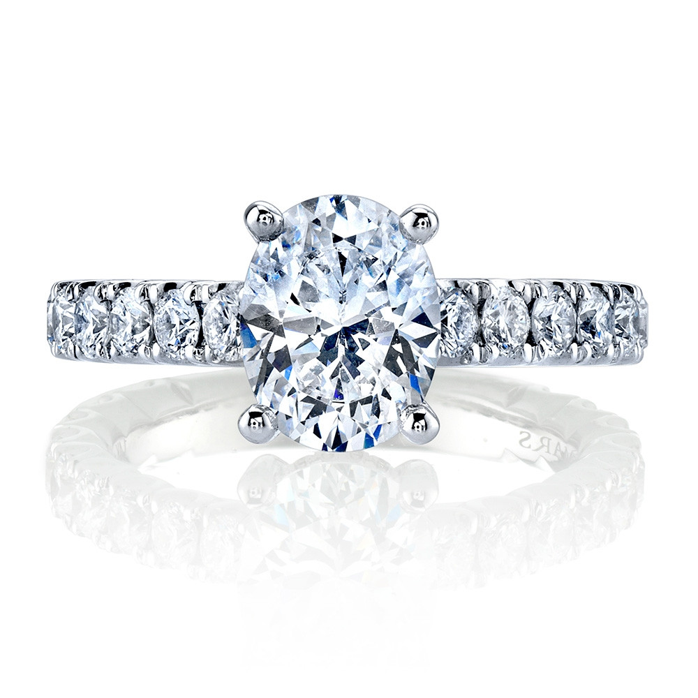 MARS Ever After White Gold Diamond Oval Engagement Ring Setting