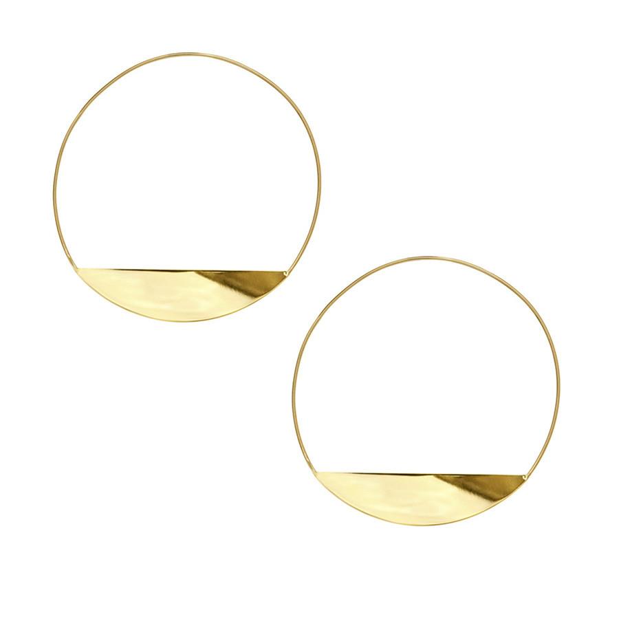Lana Yellow Gold Eclipse Magic Hoop Earrings