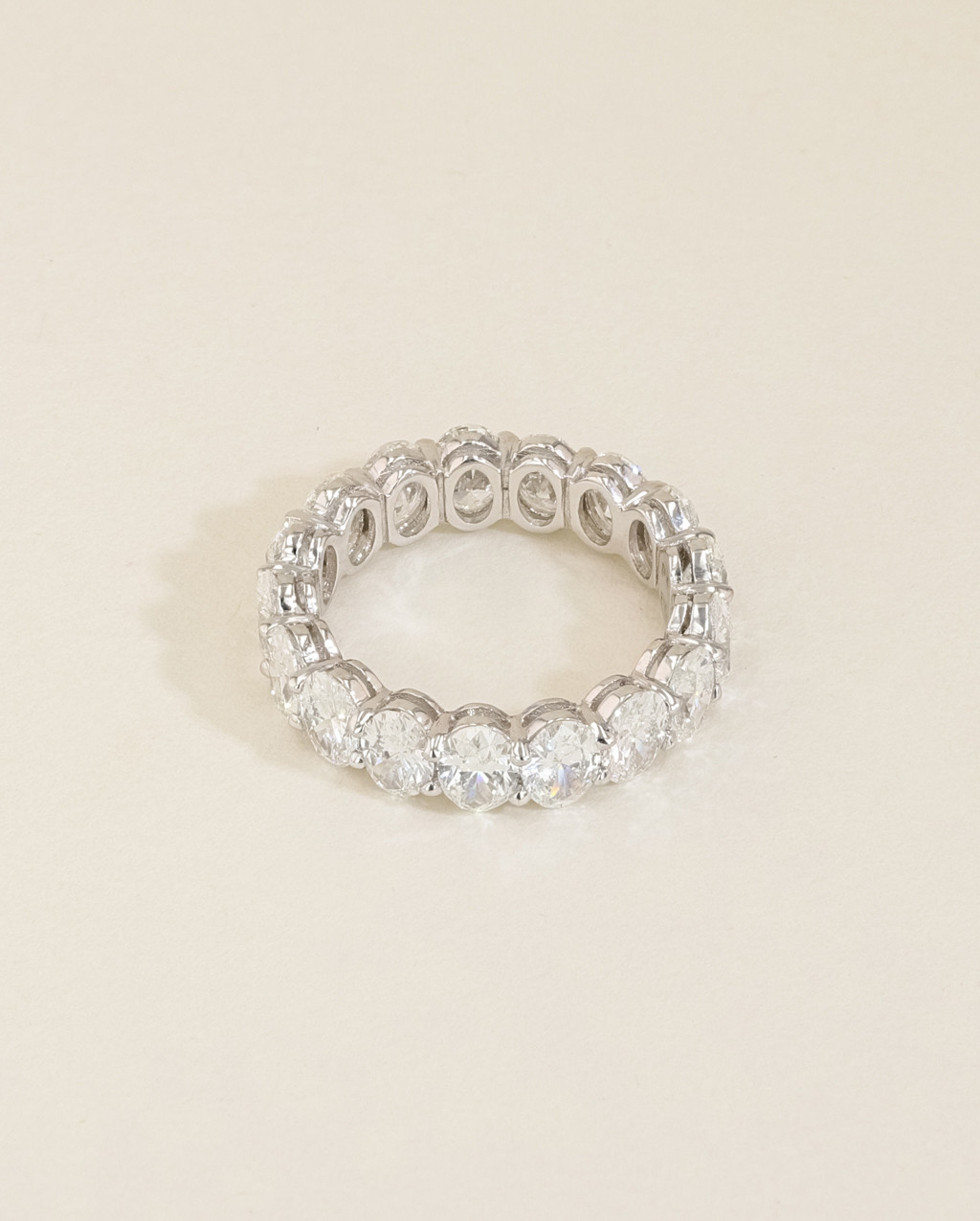 Oval Diamond Eternity Ring back view