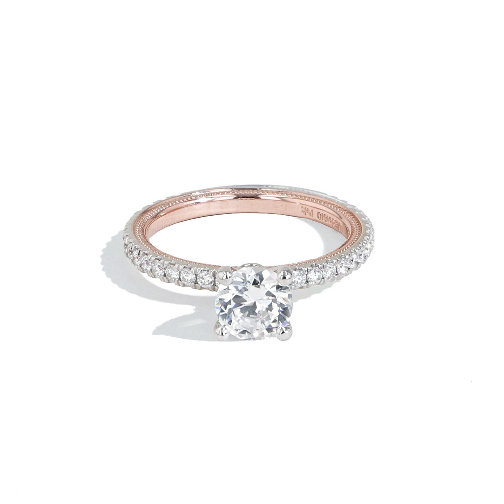 Verragio Tradition White & Rose Gold Pave Diamond Engagement Ring Setting