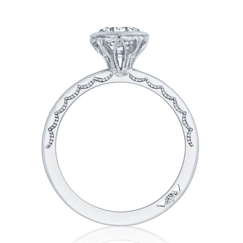 Tacori 300-2RD7.5 White Gold Bezel Set Engagement Ring Starlit Setting Edge View