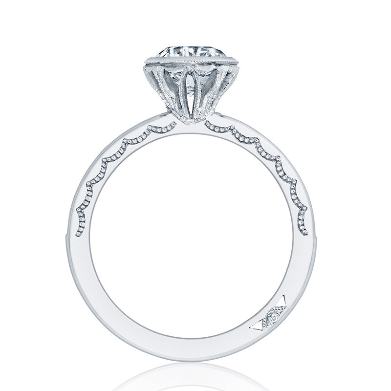 Tacori 301-25RD75 Channel Set White Gold Engagement Starlit Setting Edge View