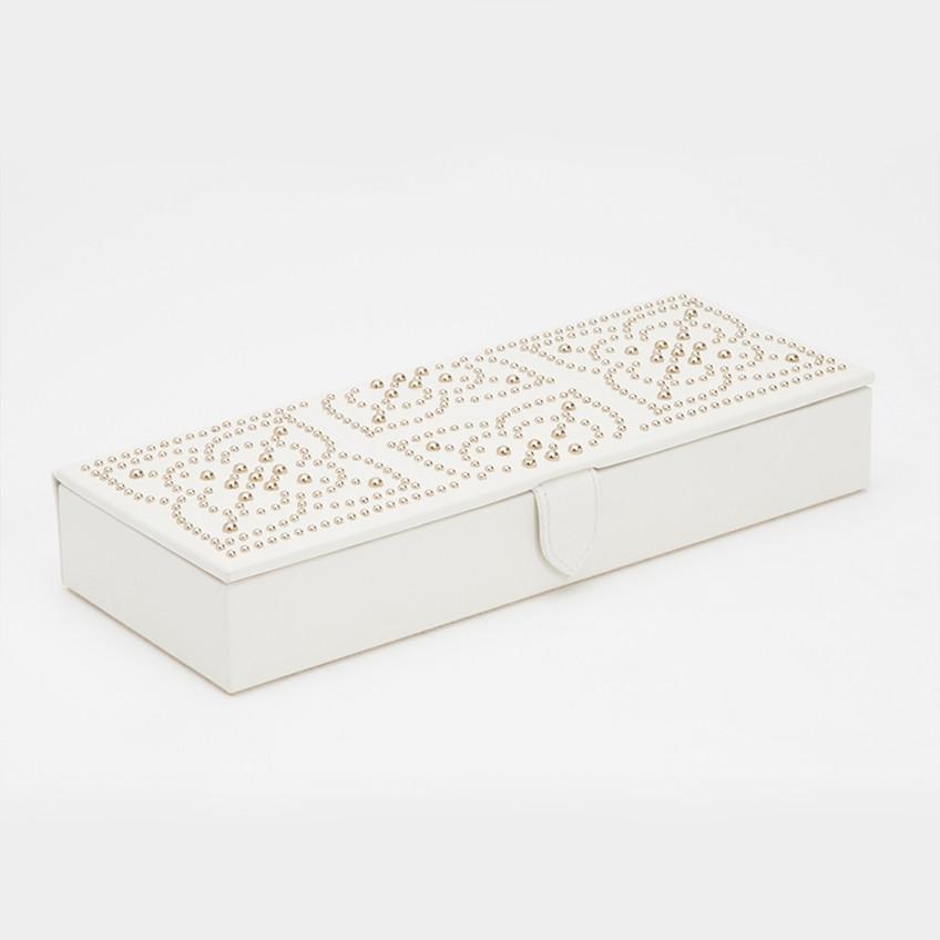 Wolf Cream Leather Marrakesh Safe Deposit Box Angle View
