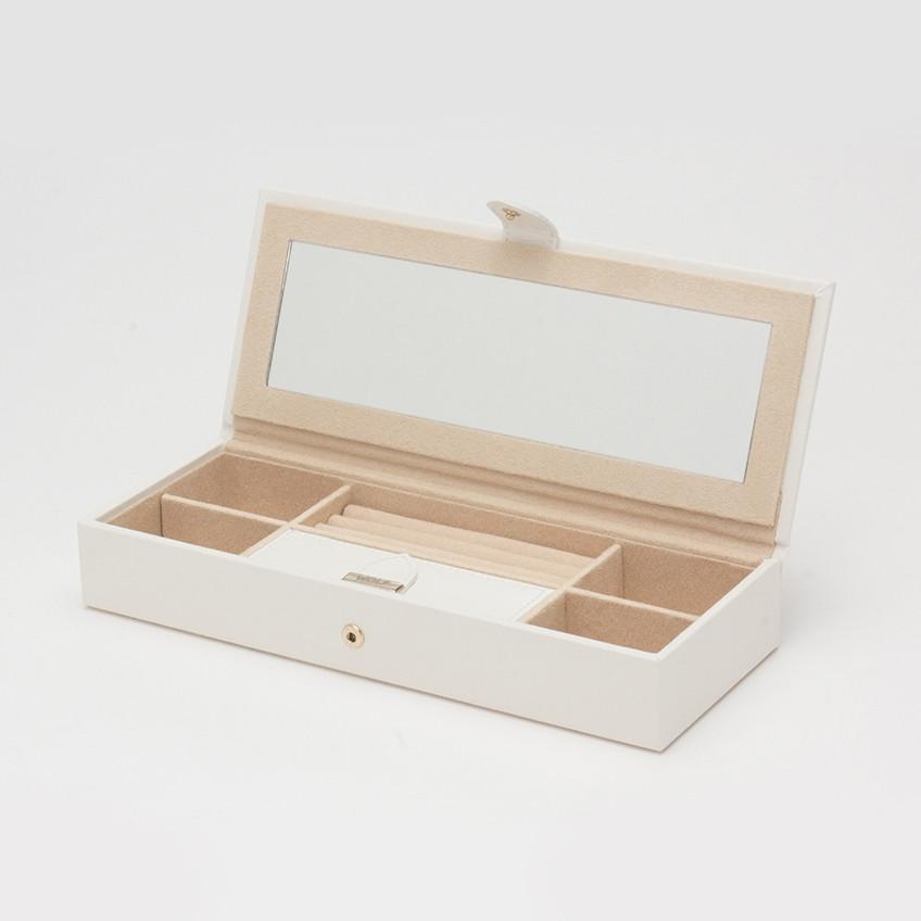 Wolf Cream Leather Marrakesh Safe Deposit Box Open View