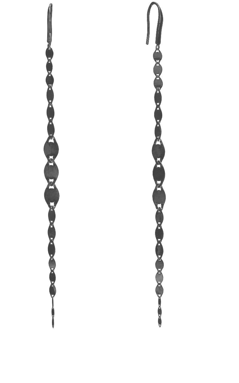 Lana Chain Drop Earrings in Black Rhodium