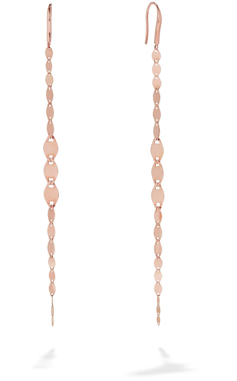 Lana Chain Drop Earrings in Rose Gold