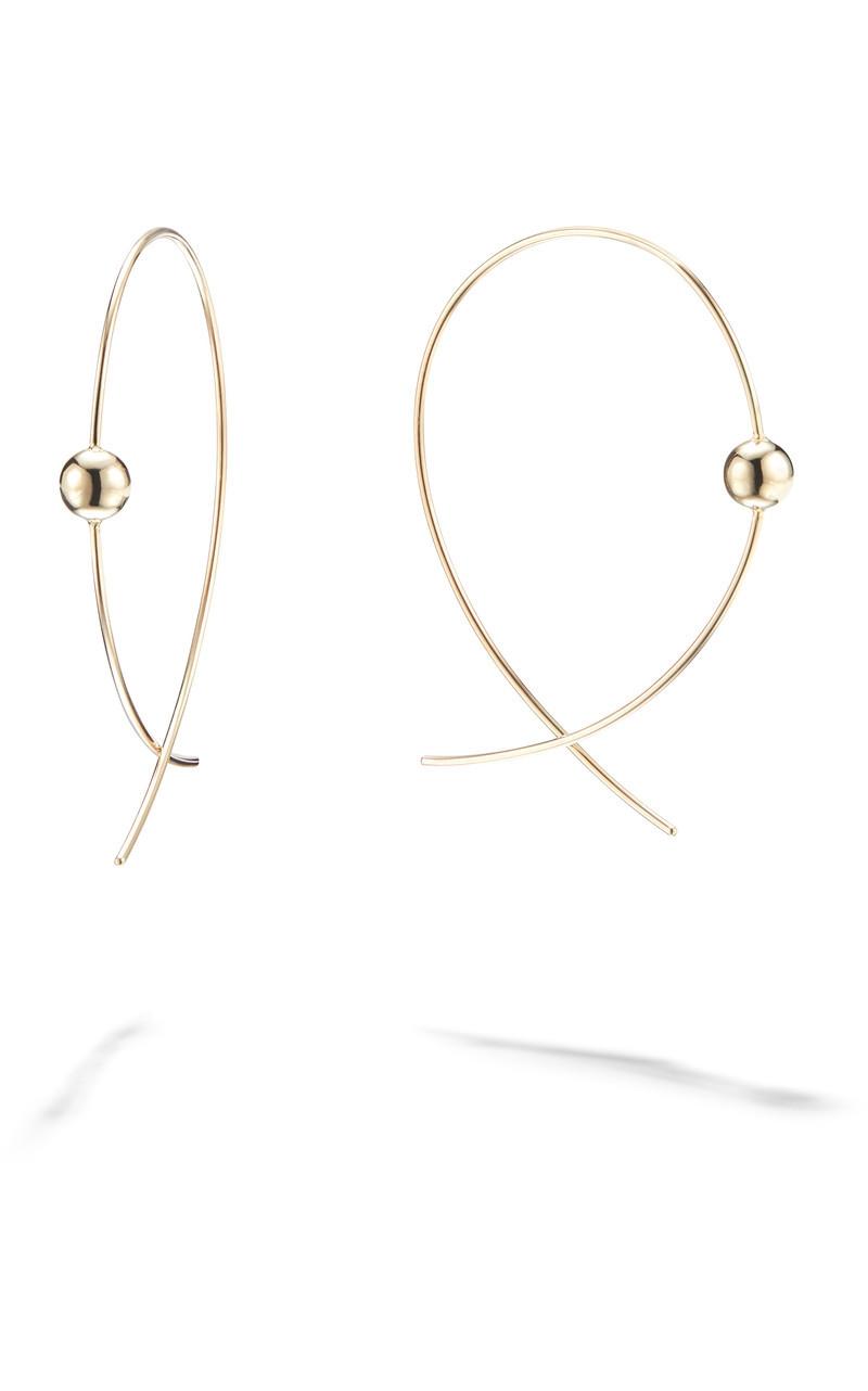 Lana Small Upside Down Bead Hoop Earrings in 14k Yellow Gold