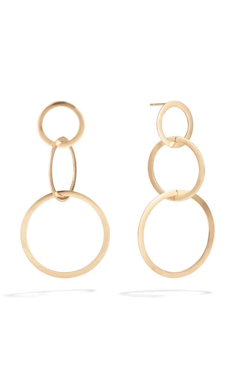 Lana 14K Gold Circle Drop Earring front