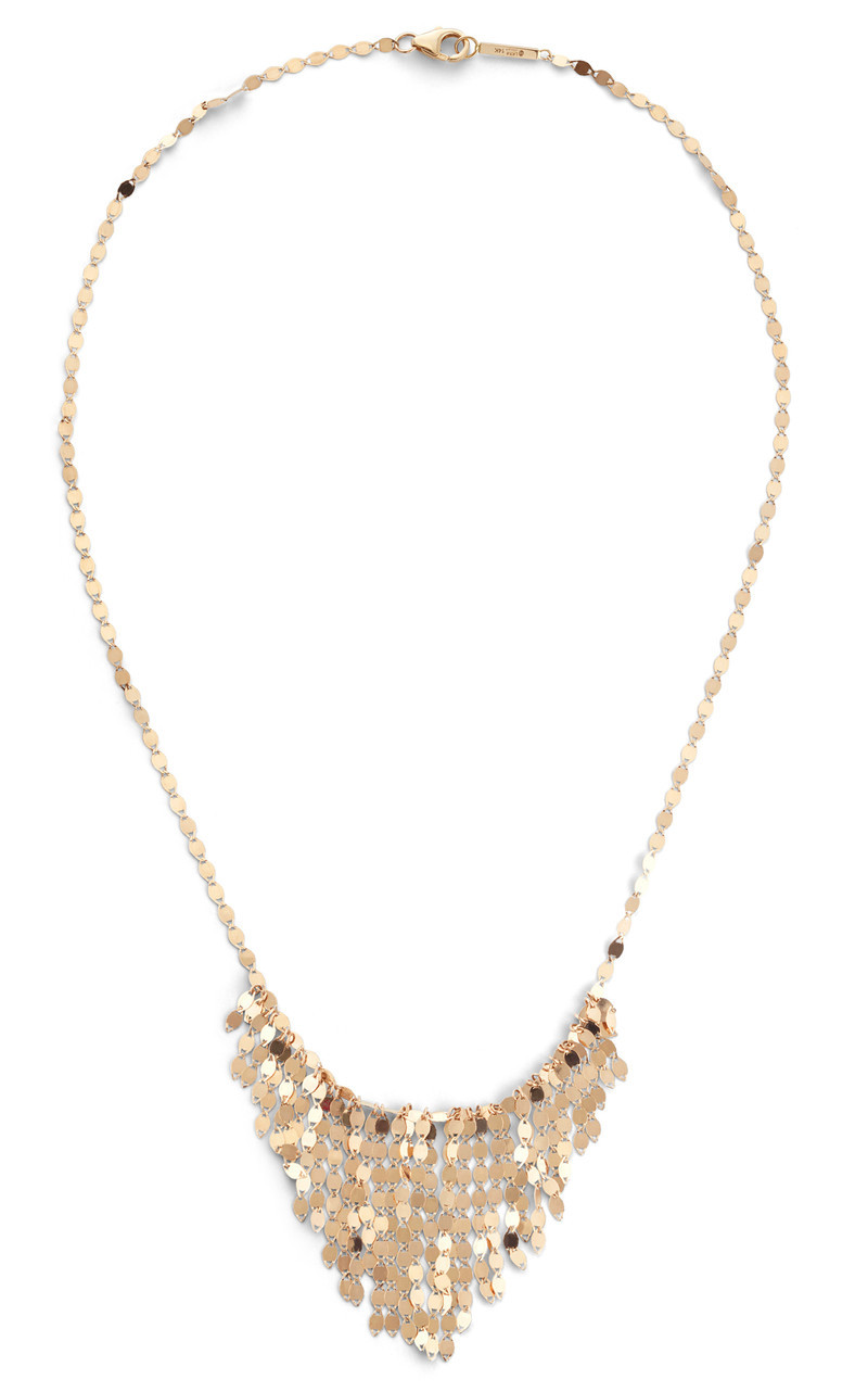 Lana Yellow Gold Fringe Necklace front