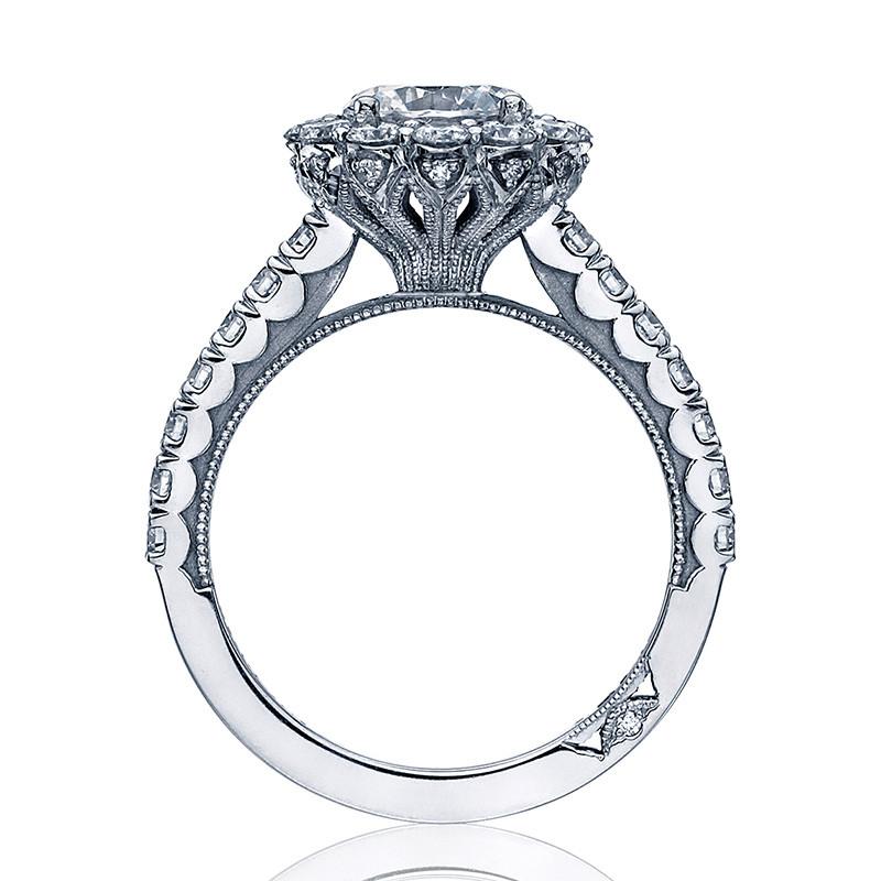 Tacori 37-2RD7.5 Diamond Half Way White Gold Engagement Full Bloom Setting Edge View