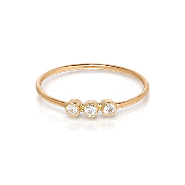 Zoe Chicco Three Diamond Ring