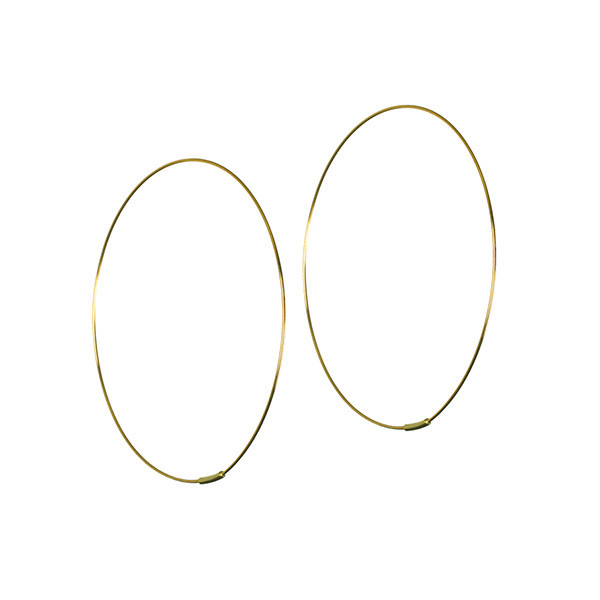 Lana Yellow Gold Large Magic Hoops