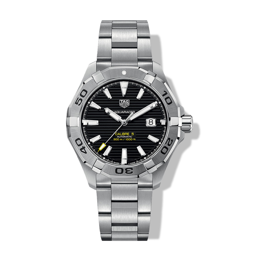 Tag Heuer Calibre 5 Black Dial Sports Aquaracer Watch