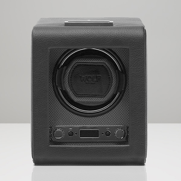 Wolf Black Single Viceroy Watch Winder Front View