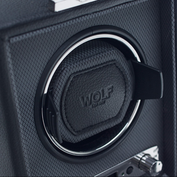 Wolf Black Single Viceroy Watch Winder Close Up