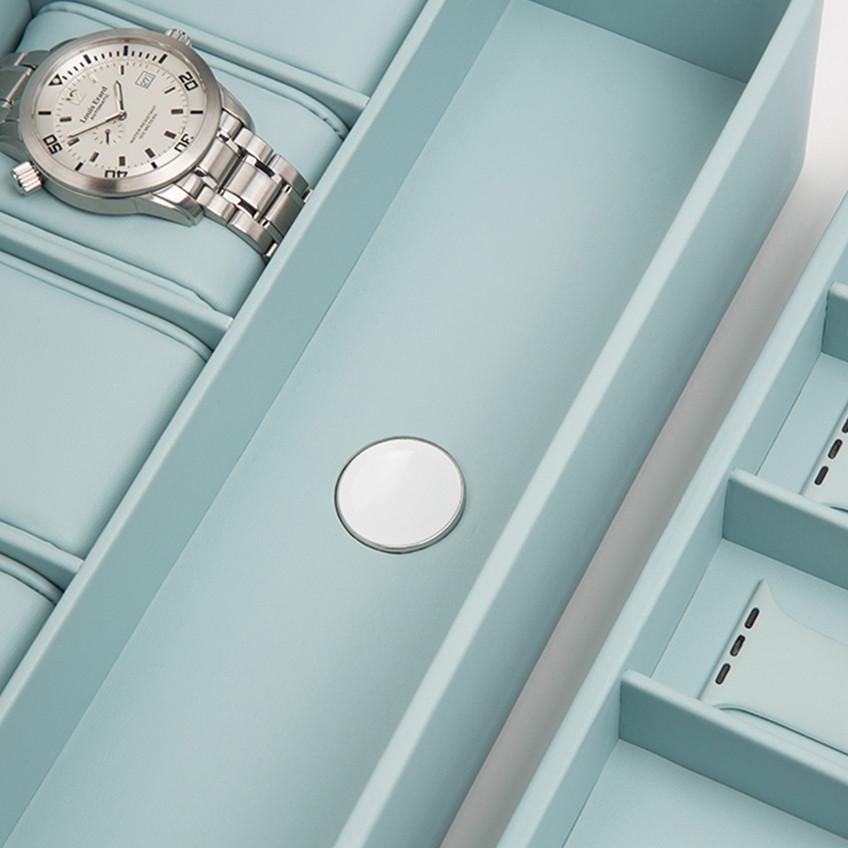 Wolf Aqua 6 Piece Smart Watch Storage Box Close Up