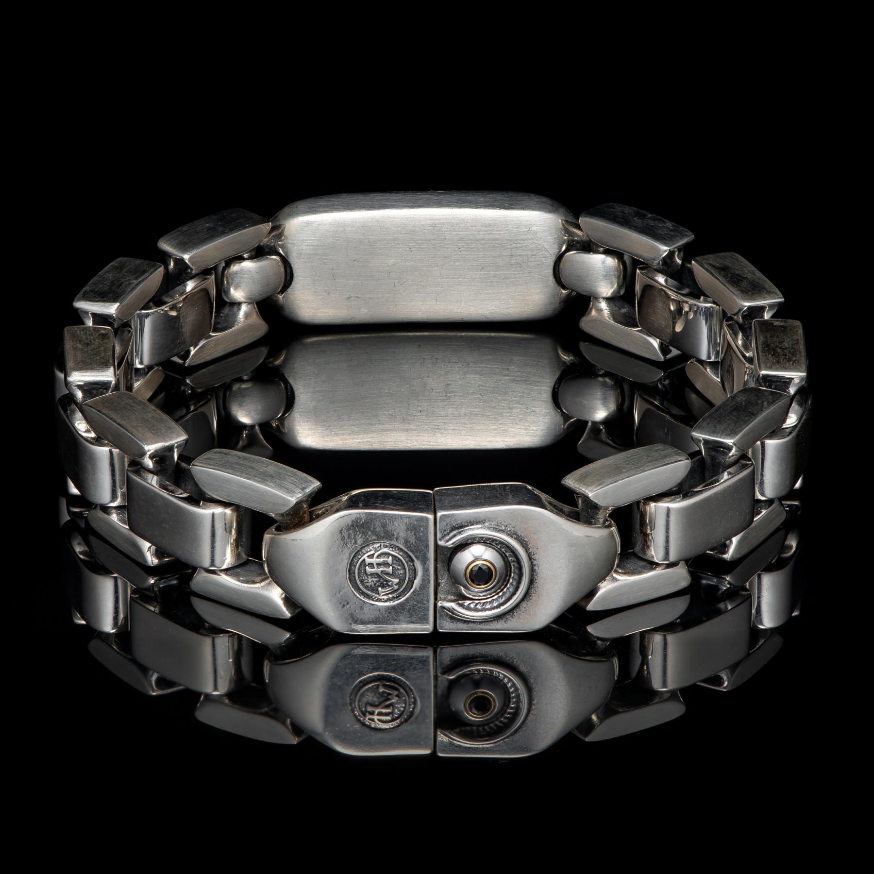 William Henry Meteorite Identity Sterling Bracelet Full Back