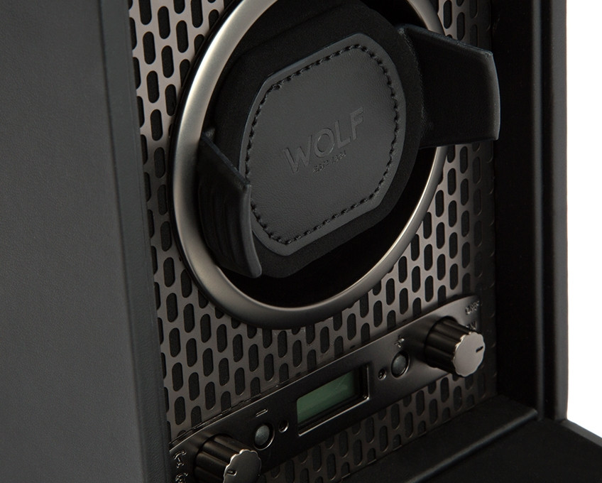 Wolf Axis Powder Coat Single Watch Winder Close Up