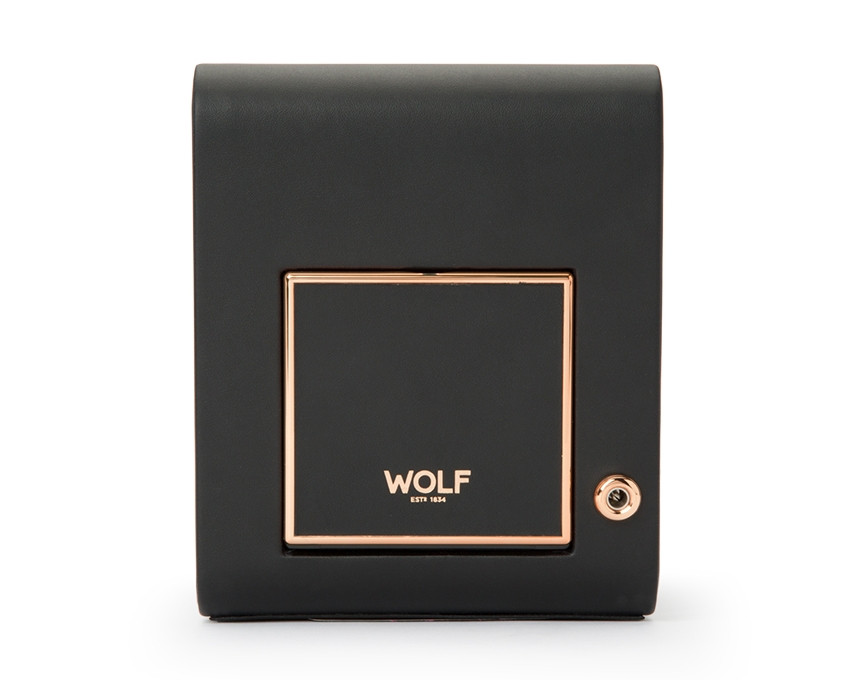 Wolf Axis Copper Single Watch Winder Back View
