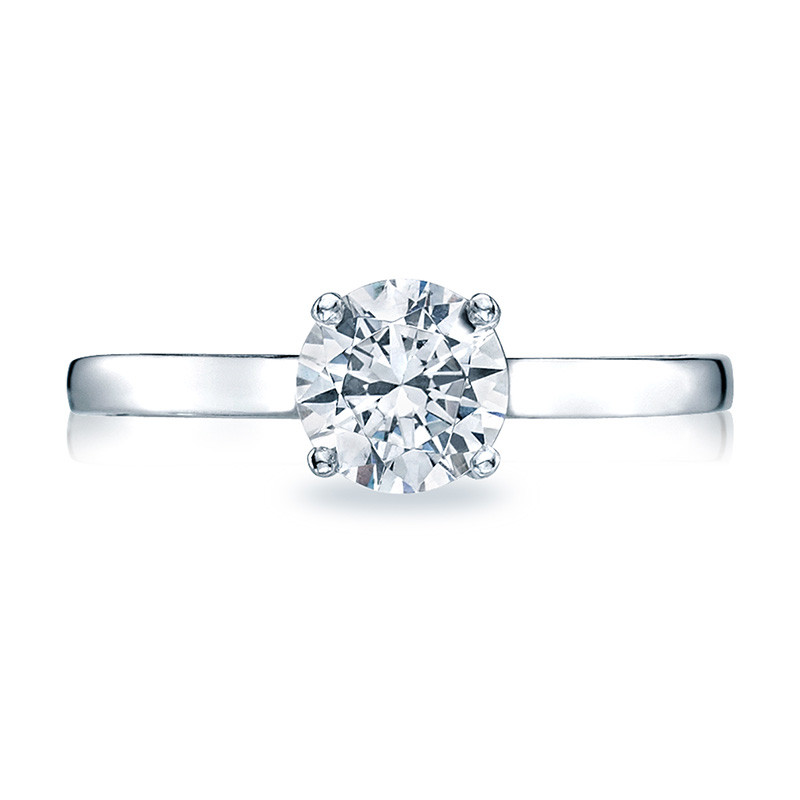 Tacori 48RD Solitaire Engagement Ring Sculpted Crescent Setting Top View