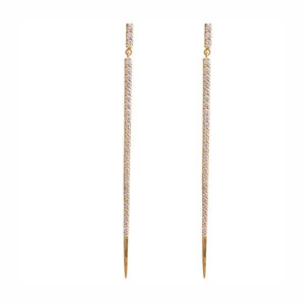 Lana Mirage Pave Diamond Spike Spear Earrings