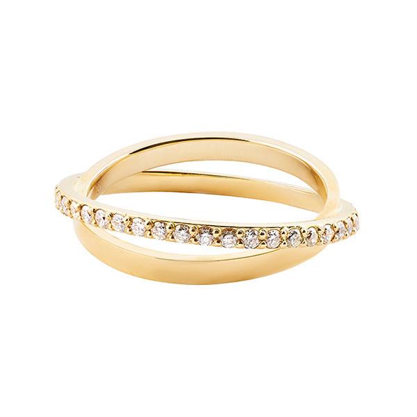 Lana Diamond Twist Yellow Gold Ring