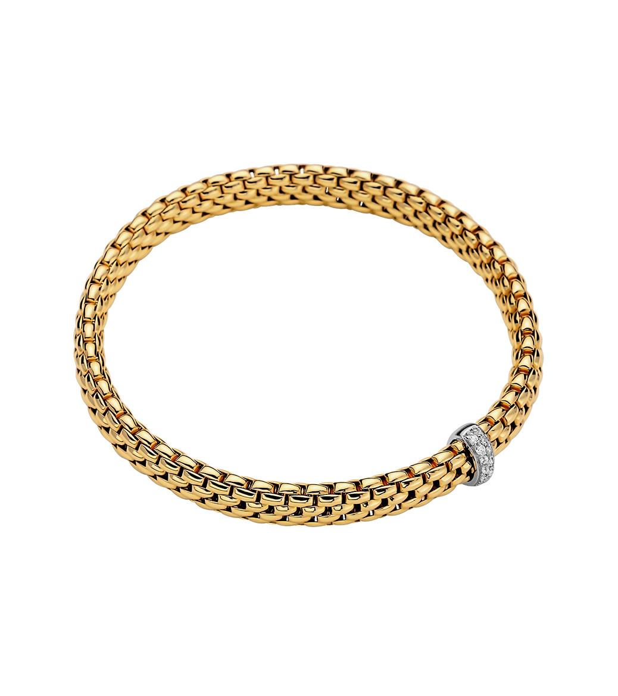 Fope Vendome Diamond Bracelet in 18K Yellow Gold main view
