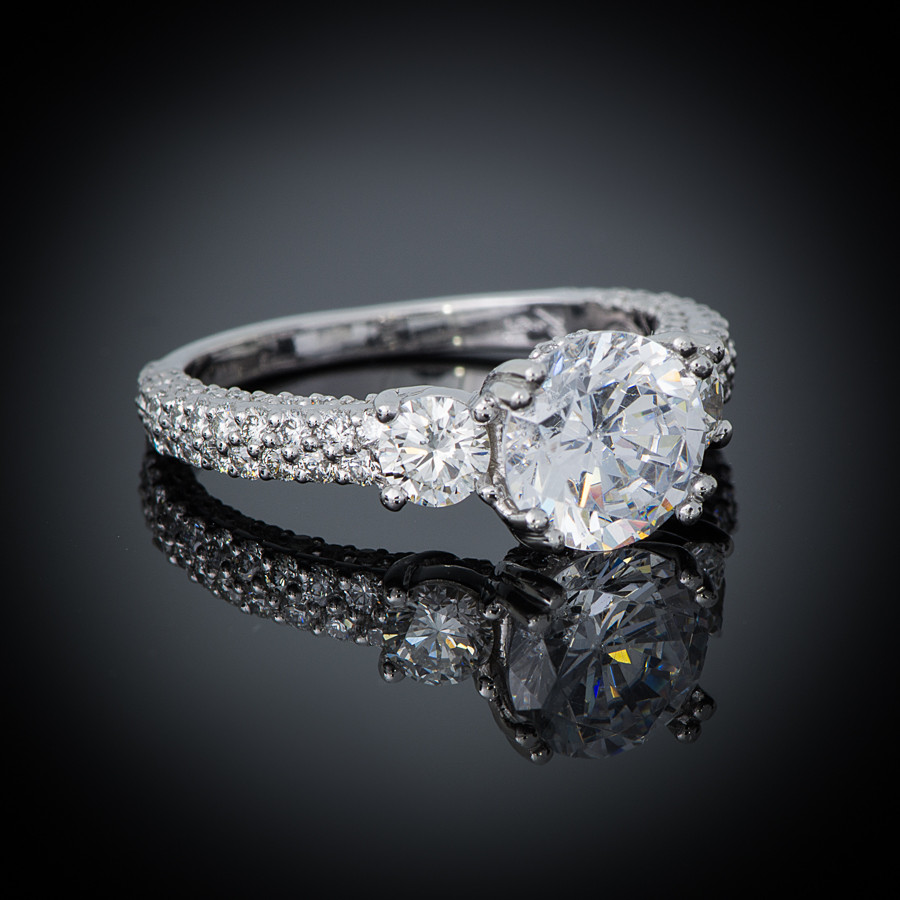 Breathless Pave Engagement Setting side