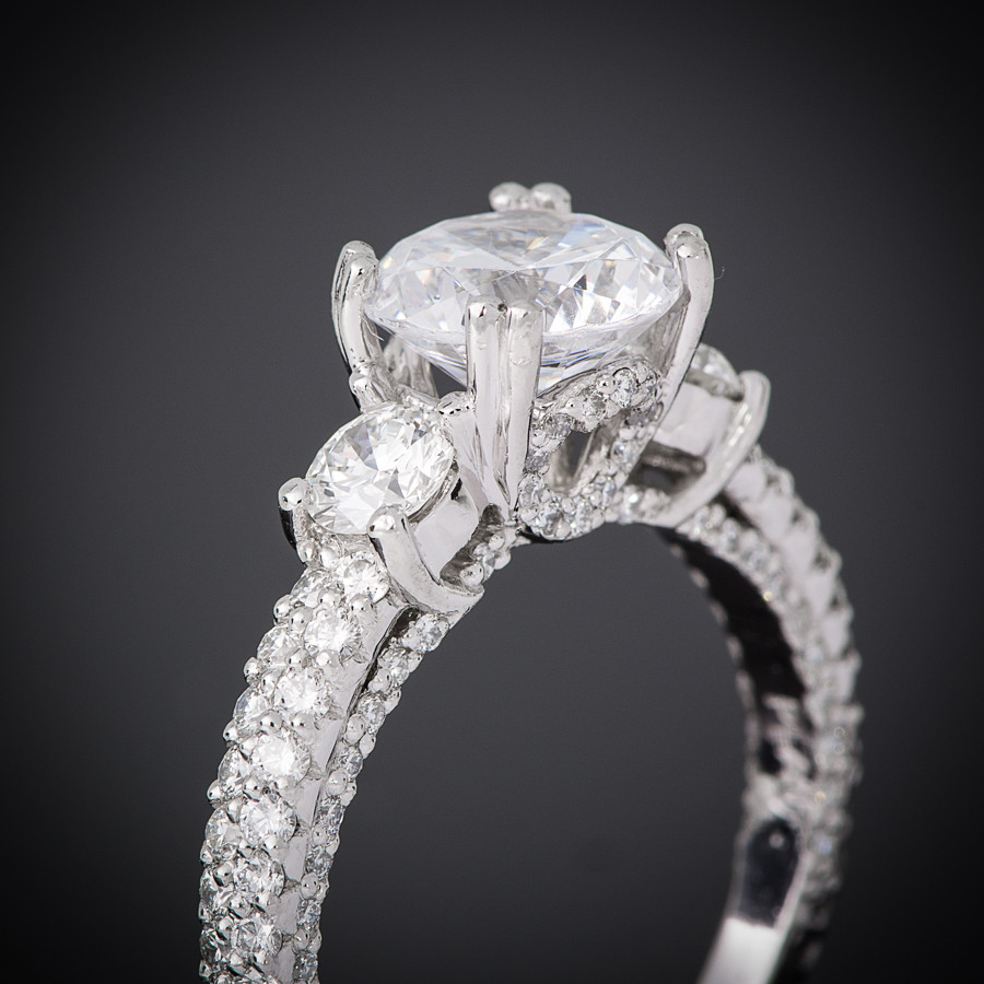 Breathless Pave Engagement Setting gall