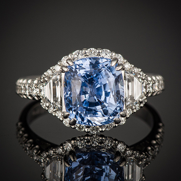Robert Pelliccia New Vintage Sapphire Diamond Ring