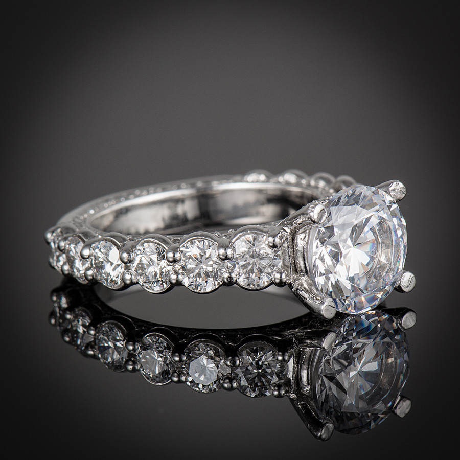 Forever Diamond Engagement Ring Setting  side