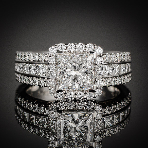 Robert Pelliccia Princess Diamond Halo Engagement Setting