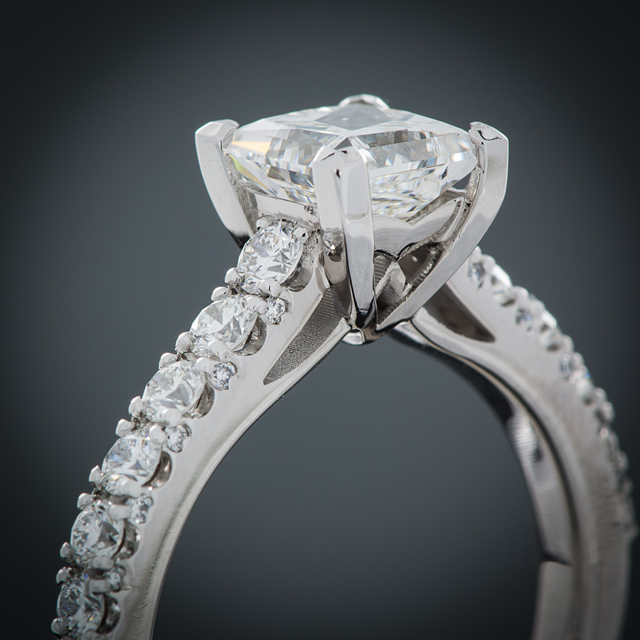 Ever Brilliant Princess Cut Engagement Ring Setting gallery