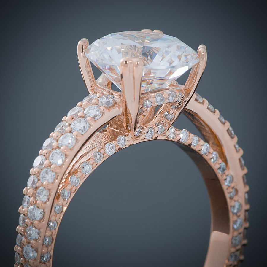 Breathless Pave Diamond Engagement Ring Setting gall